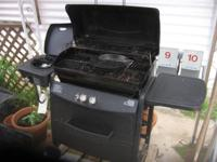 Sears Kenmore BBQ with propane tank, cover, cooking