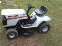 very nice12 hp tractor with38 inch deck no rust any