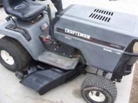 14 hp /42 inch deck new spindle new battery 6speed runs