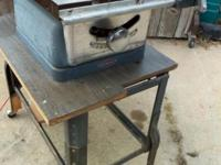 8-In. Table Saw, Sears, Belt Drive, With Stand on