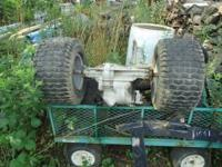 SELLING A SEARS TRACTOR REAR END AND TIRES HAVE 2 SEARS