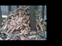 Seasoned, cut, split firewood, all hardwoods, mostly