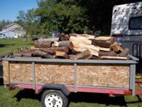 Trailer load of Seasoned firewood all cherry, cut 16 to