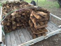 Split, seasoned oak fire wood for sale in the Lakeway