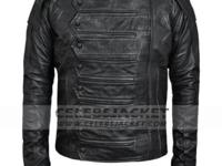 Get! The Captain America Movie Sebastian Stan leather