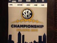 I have 2 tickets to the SEC championship football game