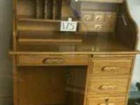 Super nice secretary desk. Has all keys with it. Oak