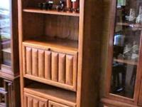 Wood Secretary Cabinet Good quality and condition, - -
