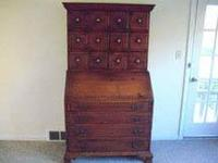 Secretary Desk, Chippendale reproduction in excellent