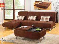 SECTIONAL 2PC SOFABED - MULTIFUNCTIONAL - MICROFIBER