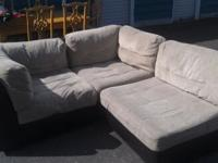 beige 3 piece couch pretty good condition small