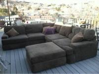 We are selling a green sectional couch that was donated