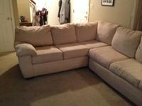 Really good, comfy two-piece sectional. Never made use