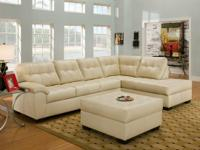 NEW LANDING  2PC SECTIONAL  BOUND NATURAL LEATHER