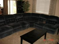 SECTIONAL SOFA- with 3 RECLINERS - FOLD DOWN TABLE