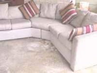 Small SECTIONAL SOFA 2 piece~~Tan Earthy Color~~loose
