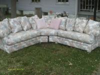 This sectional sofa comes from a smoke free house and
