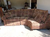 3 Piece Large Sectional Sofa with recliner on each end