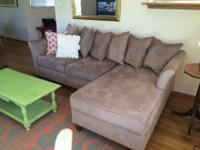 Taupe color sectional Sofa from Cost Plus (5 years) in