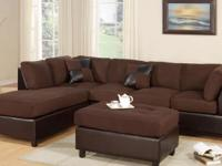 SECTIONAL SOFA & FREE OTTOMAN// LIVING ROOM SET $599