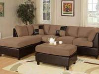 Brand New Sectional Sofa with matching Ottoman. All