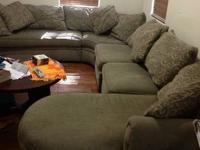 Large Rowe sectional with removable pieces to