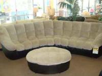 Used bi-cast sectional with ottoman Cleaned and