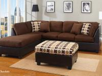 Camden Sectional Covered in a soft, smooth microfiber