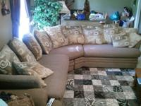 nice neutral colored sectional couch. very comfortable