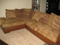 Ashley 2-piece sectional sofa with chaise lounge,