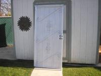 36 inch by 80 inch heavy security door in great