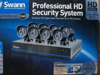 SWANN 8 channel 8 camera security system. 1 tb hard