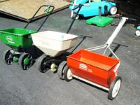 Seed & Fertilizer Spreaders 2 Rotory spreaders 1 drop