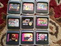 SEGA GAME GEAR 2110 WITH 9 GAMES, CARRYING CASE,
