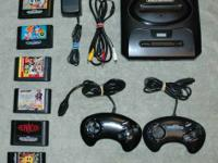 Sega Genesis Bundle with 6 games In good working