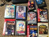 Sega Genesis w/Hookups & 2 controllers  Games: Ecco the