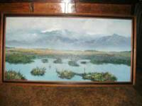 OIL PAINTING BY SEGUNDO HUERTAS 24 X 48 I N ORIGINAL