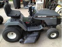 "15 horsepower, 42"" cut, 6 speed tranny. Runs and looks"
