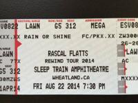 I have 2 yard tickets offered for the Rascal Flatts