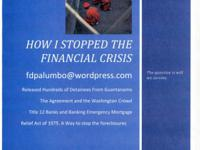 "Selling an eBook on ""How I Stopped the Financial Crisis"