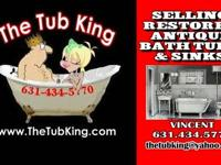 Selling Antique Bath Tubs & Sinks dated From the Late
