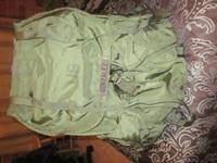 selling army issued backpack for 40$ and hard gun case