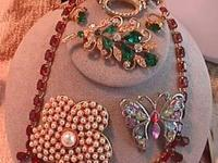 SELLING MY HIGH END VINTAGE COSTUME JEWELRY, COLLECTED