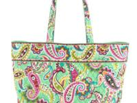 The classic Vera Bradley tote goes grand! With