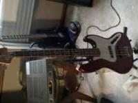 Selling Red Standard Fender Jazz Bass in great