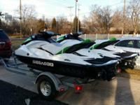 two 3-Seater Sea Doo GTI 130'S one 2014 and one 2013 -