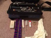 Selmer signet clarinet. Wood, comes with case, cleaning