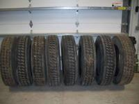 GREAT SET OF DRIVER OR TRAILER RECAP TIRES STILL HAVE