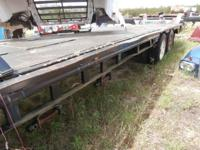 Semi tractor trailer step deck flatbed trailor. 48 long