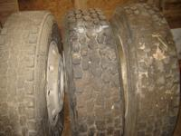 For Sale: 3 semi truck tires  with aluminum rims -